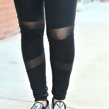 On The Run Leggings - Black