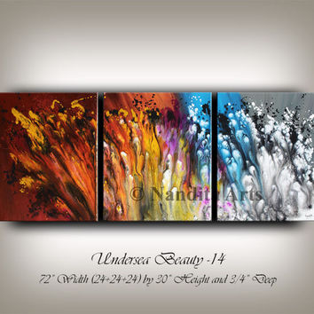 Modern Art Abstract painting, Original wall art on canvas, fall decor artwork fall decoration leaving room collectibles Fine Art Nandita