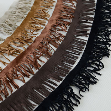 5Yards/lot 4.5cm  tassel ribbon lace fabric  5 color tassel fringe trimming DIY garment accessories RS746