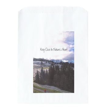 Keep Close to Nature's Heart Favor Bags