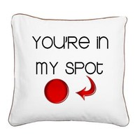 Big Bang Theory My Spot Square Canvas Pillow> Big Bang Theory My Spot> MORE PRODUCTS-CLICK HERE-GetYerGoat.com