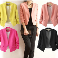 2016 New Fashion Women Blazer and jackets Spring Slim jacket Blazer women suit Jackets blazer feminino veste femme blazer