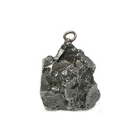 Large Iron Meteorite Pendant,  Alien Bead,  Outer Space Rock from Campo Del Cielo Argentina,  Extra Terrestrial Semiprecious Metallic Stone