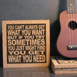ROLLING STONES - You Can't Always Get What You Want - Cork Lyric Wall Art and Hot Pad Trivet - Kitchen Art Kitchen Decor Sign Picky Eater