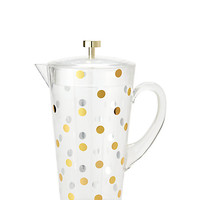 Kate Spade Raise A Glass Water Pitcher Gold Dots ONE