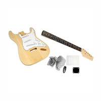 Pyle's Unfinished Strat Electric Guitar Kit - You Build The Guitar