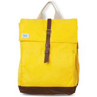 TOMS citrus waxed canvas trekker backpack