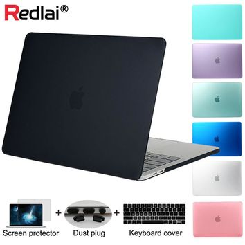 Redlai For New Macbook Pro 13 15 with Touchbar A1706 A1707 & Air 13 inch Pro 13 15 with Retina Plastic Matte Hard case
