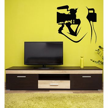 Vinyl Wall Decal Cinematography Camera Filming Director Cameraman Stickers Mural (g1724)