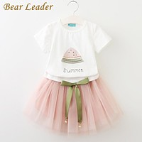 Girls Clothes Girls Clothing Sets Kids Clothes Cartoon Cat Children Clothing Toddler Girl Tops+Skirt