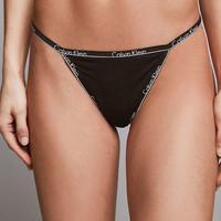 Calvin Klein ID Cotton Thong - Urban Outfitters