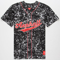 Ayc Acid Wash Mens Baseball Jersey Black  In Sizes