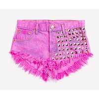 902 Kiss Studded Vintage Babe Shorts - Limited