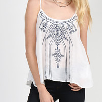 Sail Away Embroidery Cami