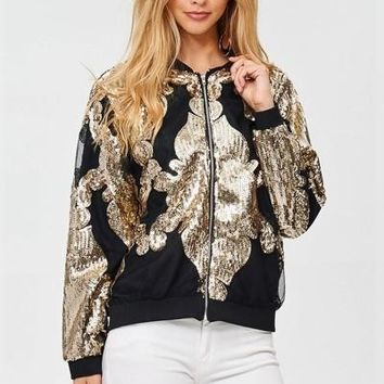Gladie Gold sequin jacket