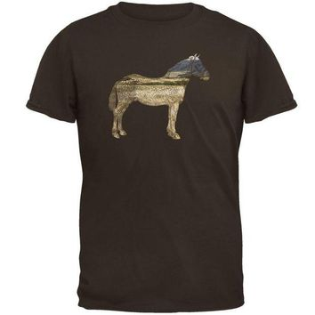 LMFCY8 Horse Field Wild Mustang Mens T Shirt