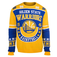 Golden State Warriors Forever Collectibles KLEW Retro Sweater w/ Priority Shipping