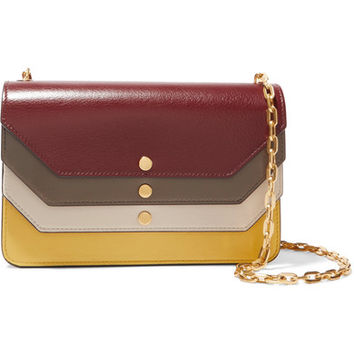 Mulberry - Paneled leather clutch