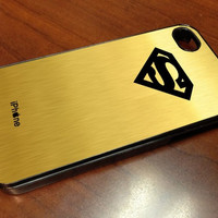 SUPERMAN LOGO IN GOLD 1  iPhone Case And Samsung Galaxy Case