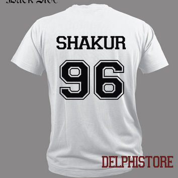 shakur 96 shirt TUPAC 2PAC shirt t shirt tshirt tee shirt black and white unisex t shirt (DL-14)