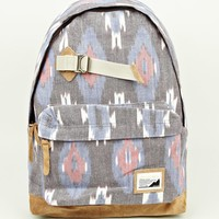 Master-Piece Black Over Indian Ikat Backpack