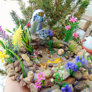 KOI POND,Fairy Fish Koi Pond for Fairy Gardens,Koi Fish, Fairy Miniature Scenes,koi pond, fairy pond, fairy house kit,dollhouse pond