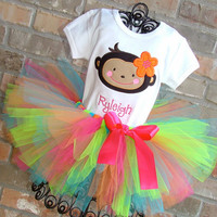 Monkey Love BIrthday Tutu Outfit