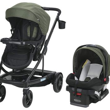 Graco Baby UNO2DUO Travel System Stroller w/ SnugLock 35 Infant Car Seat Jules