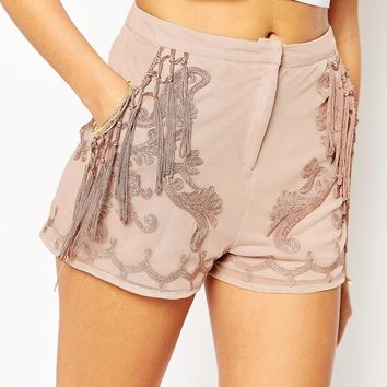 ASOS Shorts Co-ord with Cornelli Embroidery