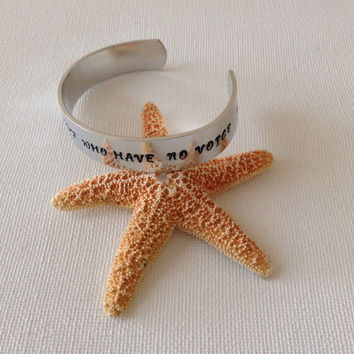 I speak for those who have no voice bangle bracelet, animal rescue, animal rights, animal lovers, gifts for animal lovers, gifts for her