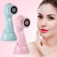 USB Rechargeable Electric Wash Brush Face Spa Cleaner Rotating Pore Blackhead Acne Remover Deep Cleansing Soft Massager Brushes