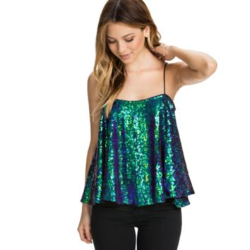 Women Sequin Tank Top