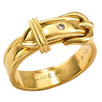 Hermes Gold Buckle Ring