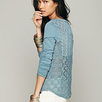 Free People Patches Of Lace Henley