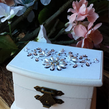 Ring Box, Personalized Ring Box,  Hand-Beaded Ring Box,  Proposal Ring Box, Wedding Ring Box, Engagement Ring Box, Ring Bearer Box