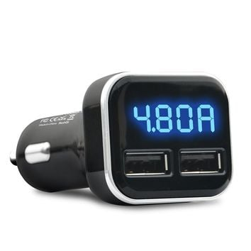 Car Charger LED Display Double USB 12V-24V Output DC 5V/4.8A Power Supply For Apple iPhone 5/6/7 Plus Samsung HTC Xiaomi Redmi