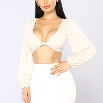 All Twisted Top - Cream