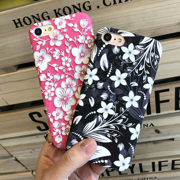 Classic Floral Case for iPhone 7 7Plus & iPhone se 5s 6 6 Plus High Quality Cover -0322