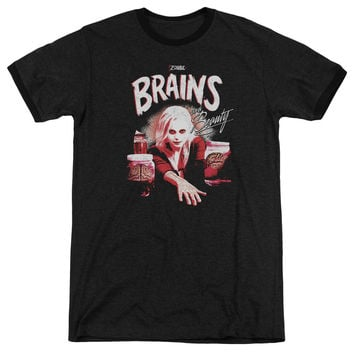 iZombie Brains And Beauty Black Ringer T-Shirt