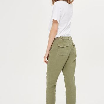 Khaki Utility Trousers - Home Or Away - We Love