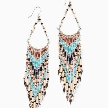 Bead Motif Earrings