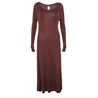Oxblood Knit Dress