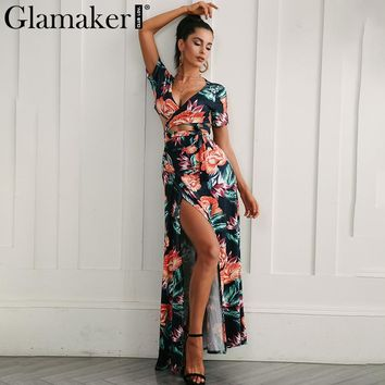Tropical Floral Summer Vacation Dress