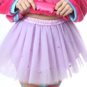 Dance 8 Layer Tulle Cutie Kawaii Lolita Decora Punk Spike Tutu Pleat Mini Skirt