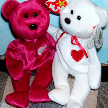 Ty Beanie Babies Valentino and Valentina Retired Vintage Collectibles (List Price is for One Ty Beanie of Choice)