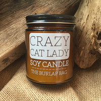 Crazy Cat Lady Candle