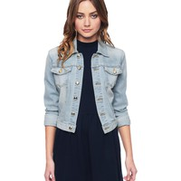 Bowery Wash Denim Jacket With La Patch by Juicy Couture,