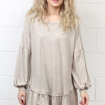 Ruffled Around the Edges Tunic {Taupe}