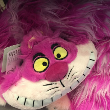 "disney parks alice in wonderland cheshire cat 12"" long tail scarf plush new with tags"
