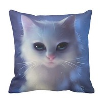 Fabulous Feline Throw Pillow